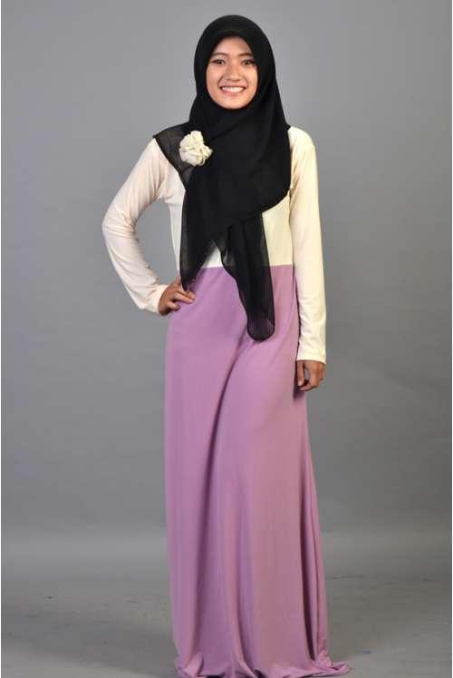 Naima Dress Cream-Violet